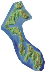 Whidbey Island Relief Map